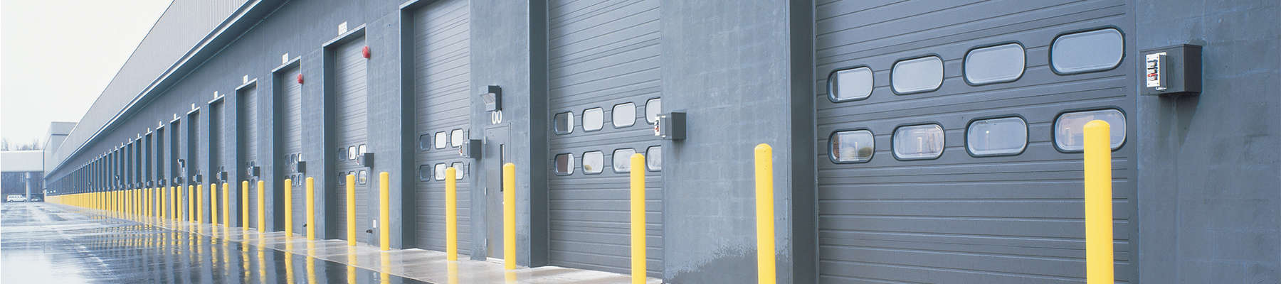 industrial facility with overhead doors