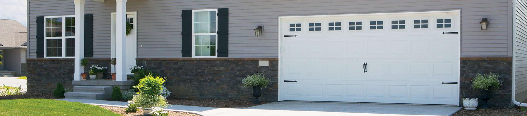 home with double garage door